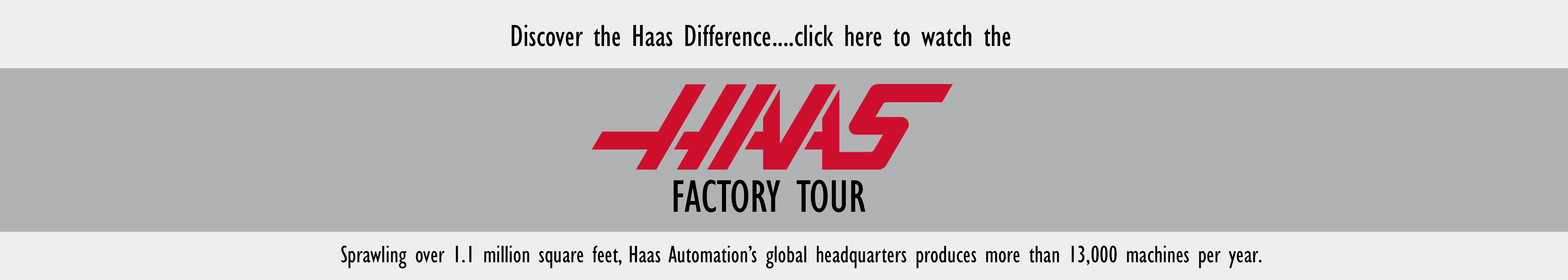 Take the Haas Factory Tour